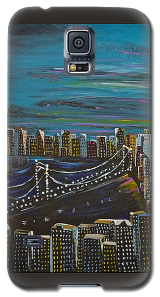 Galaxy S5 Case featuring the painting Citiscape by Donna Blossom
