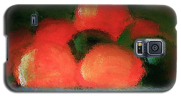 Galaxy S5 Case featuring the painting Citrus In Pottery Bowl by Lisa Kaiser