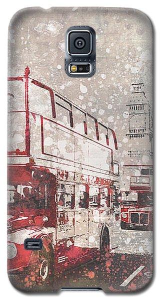 City-art London Red Buses II Galaxy S5 Case by Melanie Viola