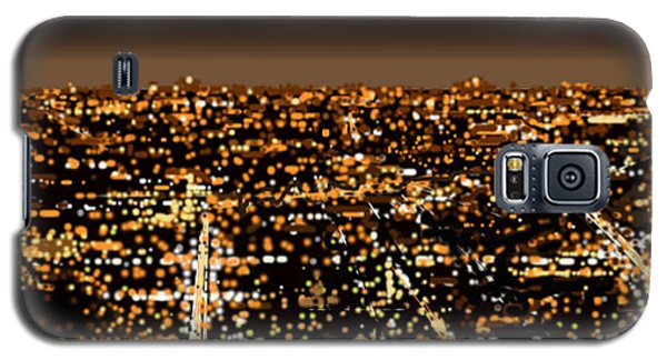 Galaxy S5 Case featuring the painting City At Night by Shabnam Nassir