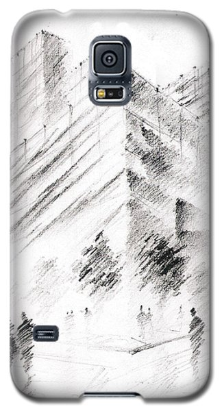 Galaxy S5 Case featuring the drawing City Building by Fanny Diaz