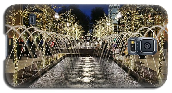Galaxy S5 Case featuring the photograph City Creek Fountain - 2 by Ely Arsha