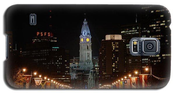City Hall At Night Galaxy S5 Case by Jennifer Ancker