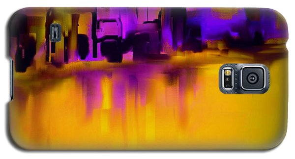 City In Purple And Gold Galaxy S5 Case by Jessica Wright