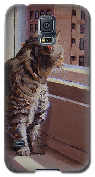 City Kitty Enjoys Her View Galaxy S5 Case