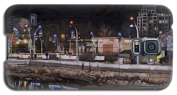 Galaxy S5 Case featuring the painting City Lights by Bonnie Heather