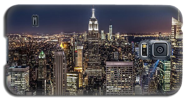 Galaxy S5 Case featuring the photograph City Lights by Mihai Andritoiu
