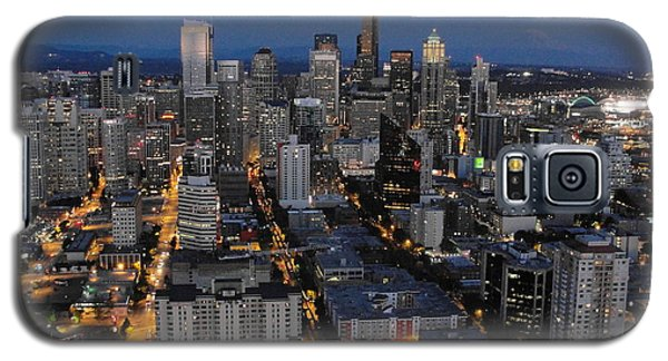 Galaxy S5 Case featuring the photograph City Lights by Natalie Ortiz