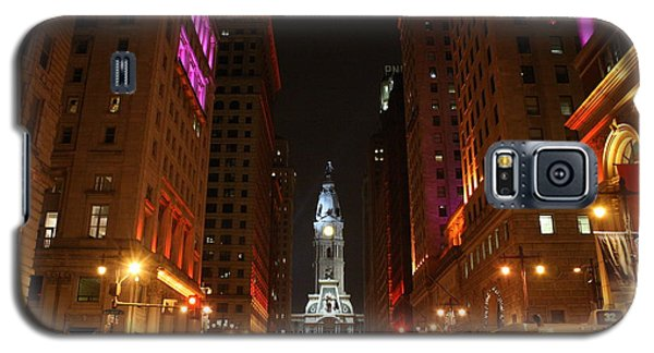 Galaxy S5 Case featuring the photograph Philadelphia City Lights by Christopher Woods