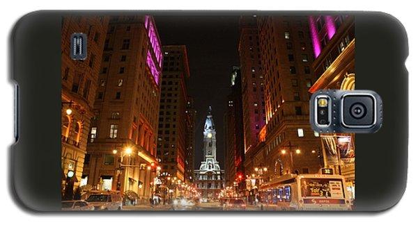 Philadelphia City Lights Galaxy S5 Case by Christopher Woods