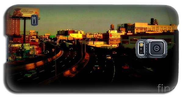 Galaxy S5 Case featuring the photograph City Of Gold - New York City Sunset With Water Towers by Miriam Danar