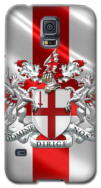 City Of London - Coat Of Arms Over Flag  Galaxy S5 Case