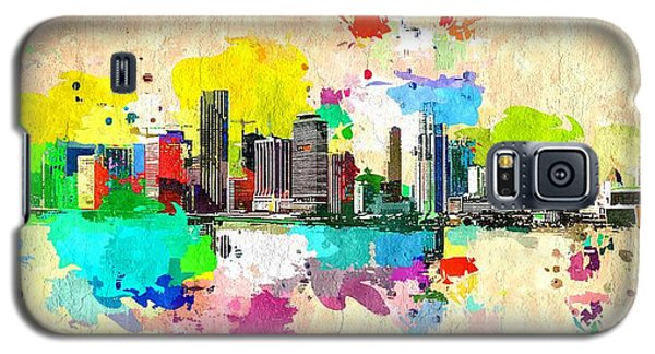 City Of Miami Grunge Galaxy S5 Case by Daniel Janda