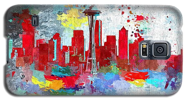 City Of Seattle Grunge Galaxy S5 Case by Daniel Janda