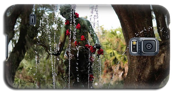 City Park Fountain Galaxy S5 Case by Beth Vincent
