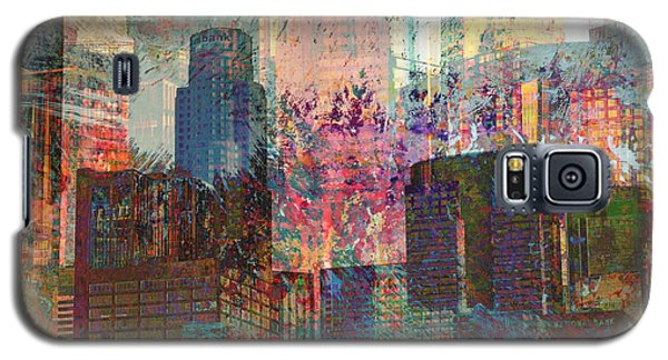 City Skyline Abstract Scene Galaxy S5 Case