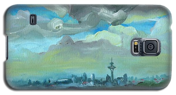 City Skyline Impressionist Painting Galaxy S5 Case