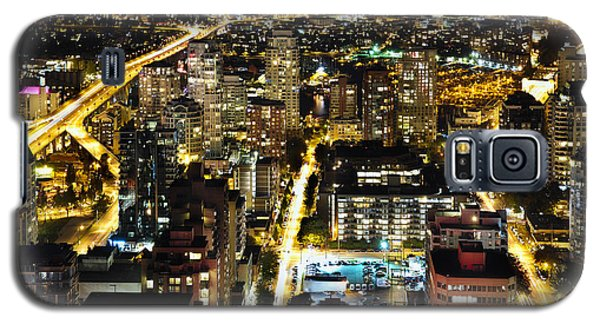 Galaxy S5 Case featuring the photograph Cityscape Golden Burrard Bridge Mdlxiv by Amyn Nasser