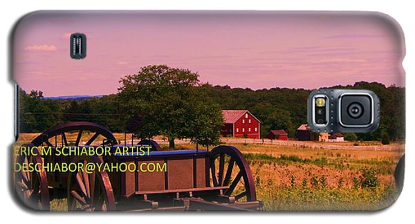 Civil War Caisson At Gettysburg Galaxy S5 Case by Eric  Schiabor