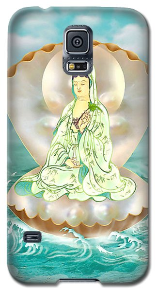 Galaxy S5 Case featuring the photograph Clam-sitting Kuan Yin by Lanjee Chee