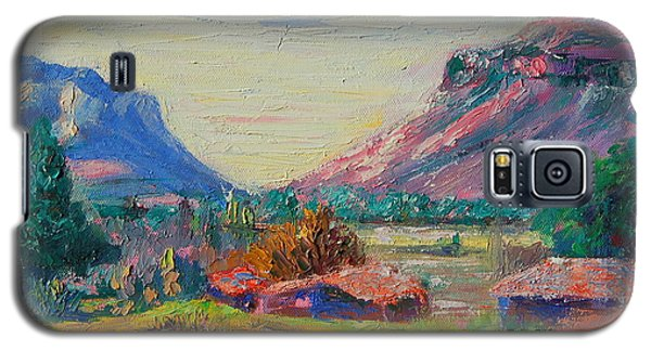 Galaxy S5 Case featuring the painting Clarence Mountain Free State South Africa by Thomas Bertram POOLE