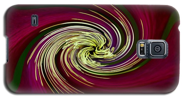 Galaxy S5 Case featuring the photograph Claret Red Swirl Clematis by Debbie Oppermann