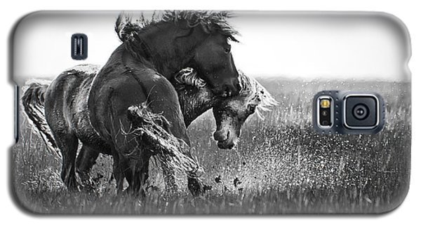Clash Of Two Wild Stallions Galaxy S5 Case