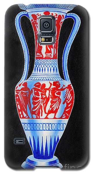 Galaxy S5 Case featuring the painting Classic Ancient Grecian Pottery by Ragunath Venkatraman