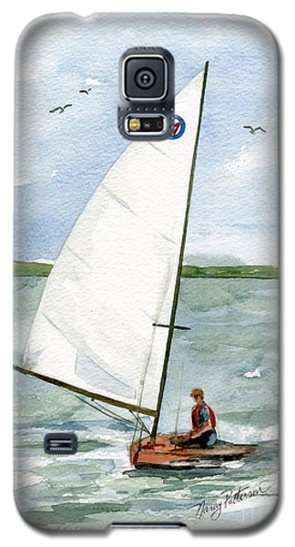 Galaxy S5 Case featuring the painting Classic Moth Boat by Nancy Patterson
