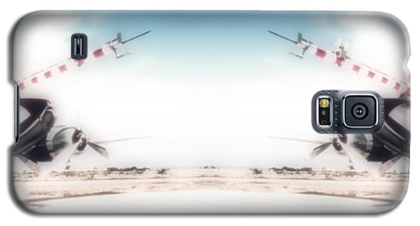 Galaxy S5 Case featuring the photograph Propeller Aircraft by R Muirhead Art