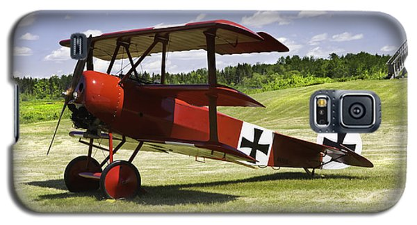 Classic Red Barron Fokker Dr.1 Triplane Photo Galaxy S5 Case by Keith Webber Jr