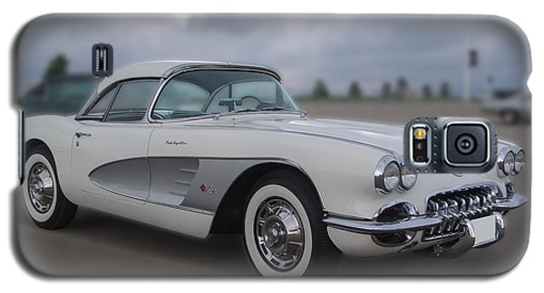 Classic White Corvette Galaxy S5 Case