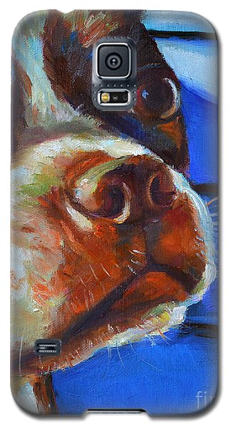 Galaxy S5 Case featuring the painting Classy Hank by Robert Phelps