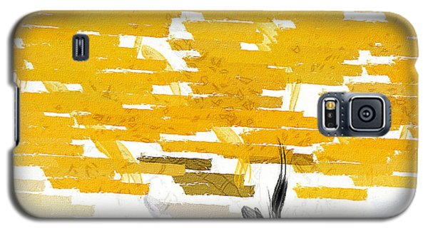 Classy Yellow Tree Galaxy S5 Case by Lourry Legarde
