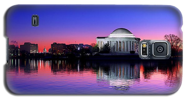 Clear Blue Morning At The Jefferson Memorial Galaxy S5 Case