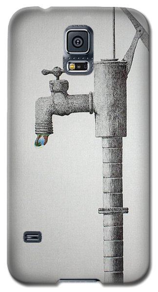 Galaxy S5 Case featuring the painting Clear In The Air by A  Robert Malcom