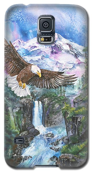 Galaxy S5 Case featuring the painting Cleared For Landing Mount Baker by Sherry Shipley