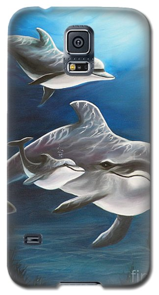Clearwater Beach Dolphins Galaxy S5 Case