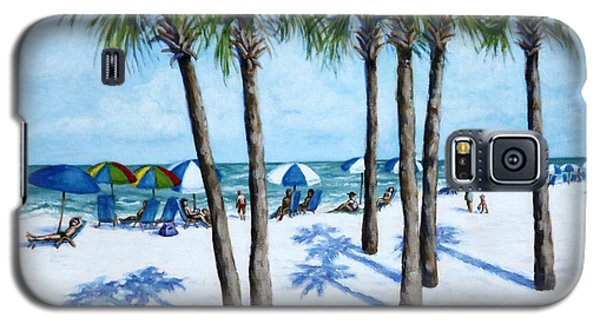 Galaxy S5 Case featuring the painting Clearwater Beach Morning by Penny Birch-Williams