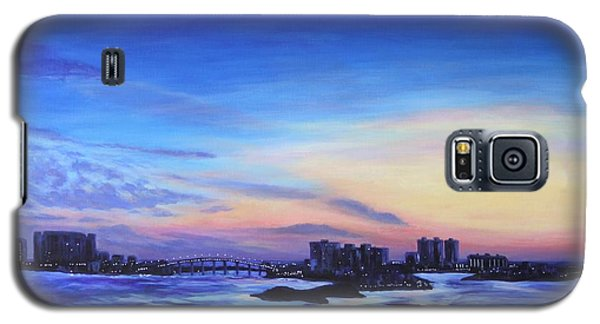 Galaxy S5 Case featuring the painting Clearwater Beach Sunset by Penny Birch-Williams