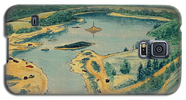 Galaxy S5 Case featuring the painting Clearwater Lake Early Days by Kip DeVore