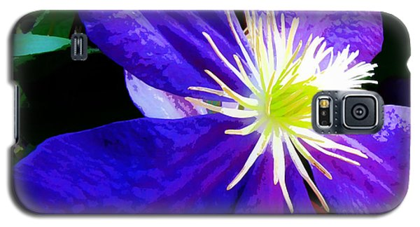Galaxy S5 Case featuring the photograph Clematis In Watercolor by John Freidenberg