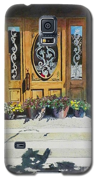 Galaxy S5 Case featuring the painting Clementines Door by LeAnne Sowa