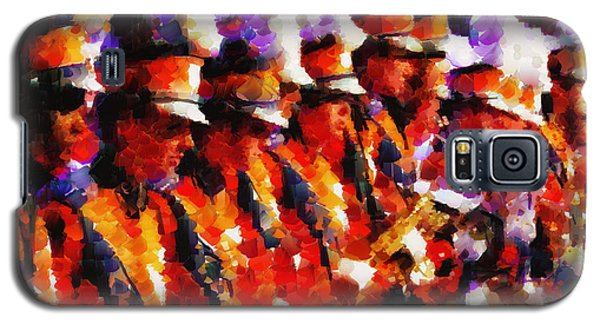 Clemson Tiger Band - Afremov-style Galaxy S5 Case by Lynne Jenkins