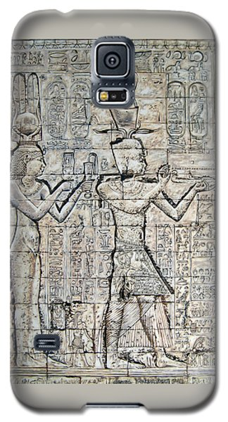 Galaxy S5 Case featuring the painting Cleopatra And Caesarion by Leena Pekkalainen