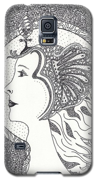Galaxy S5 Case featuring the drawing Cleopatra  by Tamyra Crossley