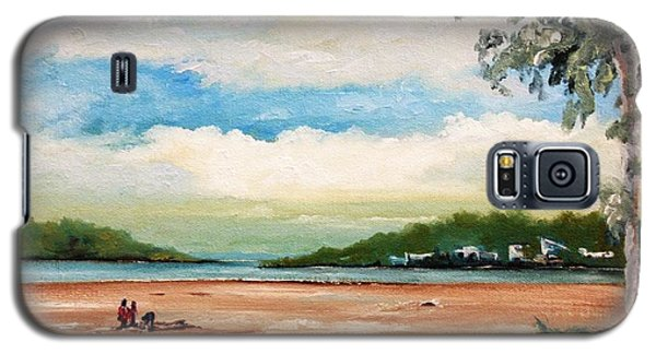 Galaxy S5 Case featuring the painting Cleveland by Helen Syron