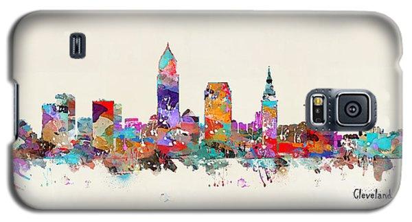 Cleveland Ohio Skyline Galaxy S5 Case by Bri B