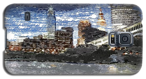 Cleveland Skyline - Typography Galaxy S5 Case