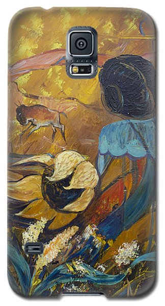 Galaxy S5 Case featuring the painting Cliff Dwellers by Avonelle Kelsey